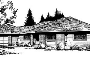 Traditional Exterior - Front Elevation Plan #85-110