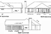 Traditional Style House Plan - 3 Beds 3 Baths 1958 Sq/Ft Plan #65-479 Exterior - Rear Elevation