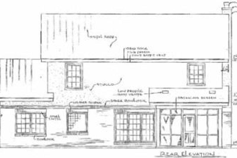 Traditional Exterior - Rear Elevation Plan #14-219 - Houseplans.com