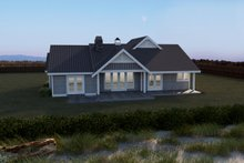 Southern Exterior - Rear Elevation Plan #1070-8