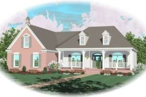 Southern Exterior - Front Elevation Plan #81-1153