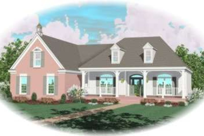 Southern Style House Plan - 3 Beds 2.5 Baths 2300 Sq/Ft Plan #81-1153 Exterior - Front Elevation