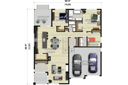 Contemporary Style House Plan - 3 Beds 2 Baths 1893 Sq/Ft Plan #25-4896