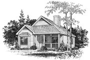 Country Style House Plan - 2 Beds 1 Baths 1285 Sq/Ft Plan #22-220 Exterior - Other Elevation