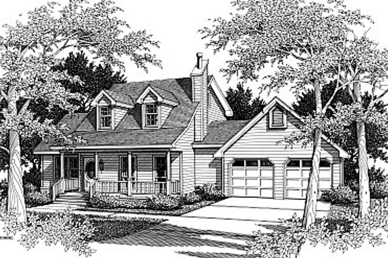 Country Style House Plan - 3 Beds 2.5 Baths 1925 Sq/Ft Plan #14-220 Exterior - Front Elevation