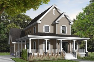 Country Exterior - Front Elevation Plan #23-377