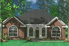 European Exterior - Front Elevation Plan #21-129