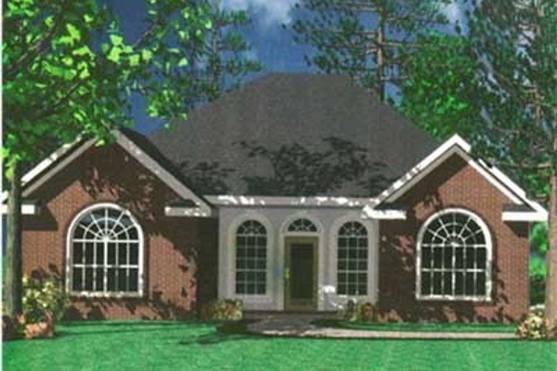 Home Plan - European Exterior - Front Elevation Plan #21-129