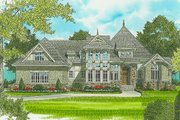 Craftsman Style House Plan - 4 Beds 3.5 Baths 3151 Sq/Ft Plan #413-130 Exterior - Front Elevation