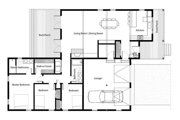 Home Plan - Traditional Floor Plan - Main Floor Plan #497-42