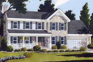 Country Exterior - Front Elevation Plan #46-203