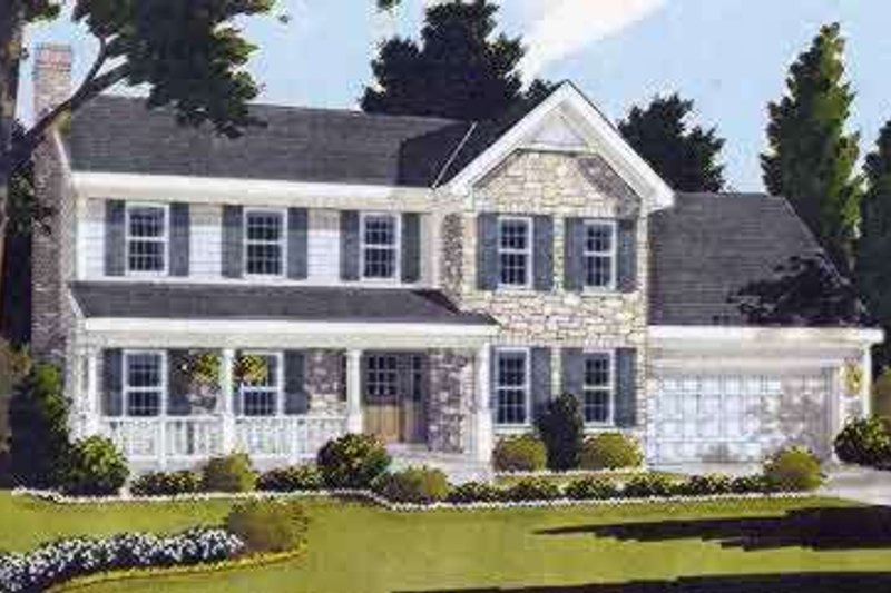 Country Style House Plan - 3 Beds 2.5 Baths 1836 Sq/Ft Plan #46-203 Exterior - Front Elevation