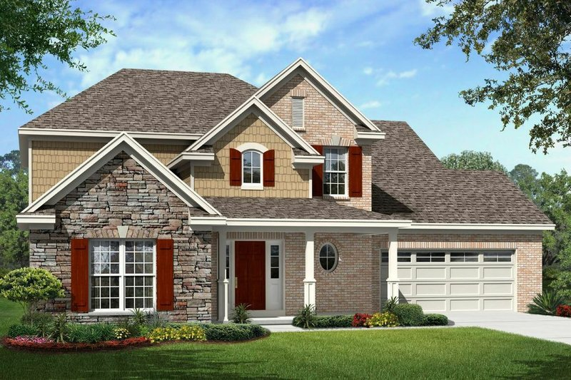 House Plan - 5 Beds 3.5 Baths 3326 Sq/Ft Plan #329-372 Exterior - Front Elevation