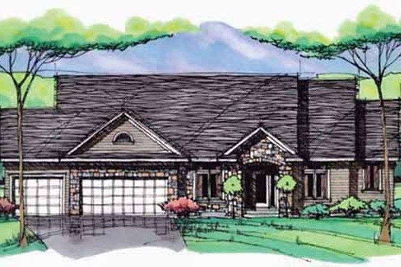 House Plan Design - European Exterior - Front Elevation Plan #51-984