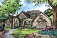 Dream House Plan - European Exterior - Front Elevation Plan #929-939
