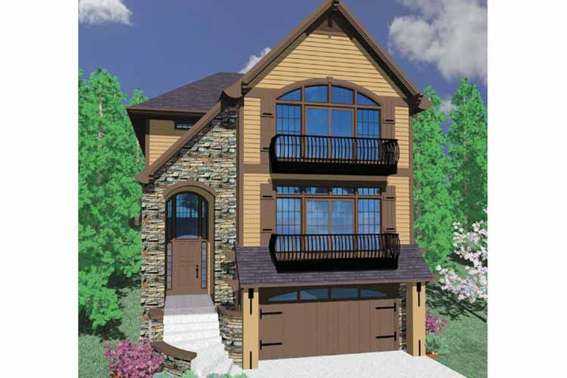 Country Exterior - Front Elevation Plan #509-328 - Houseplans.com