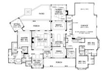 Ranch Floor Plan - Main Floor Plan Plan #929-1019