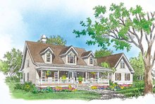 Country Exterior - Front Elevation Plan #929-150