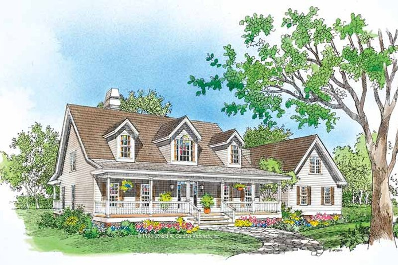 Home Plan - Country Exterior - Front Elevation Plan #929-150