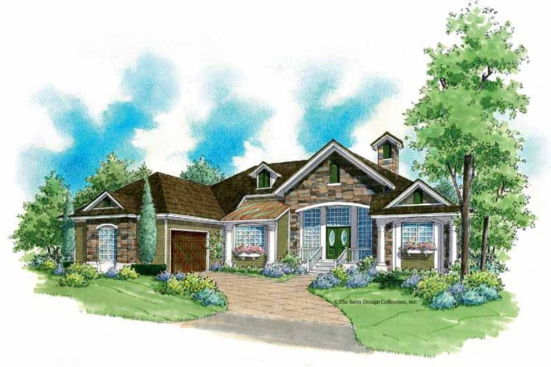Country Exterior - Front Elevation Plan #930-183