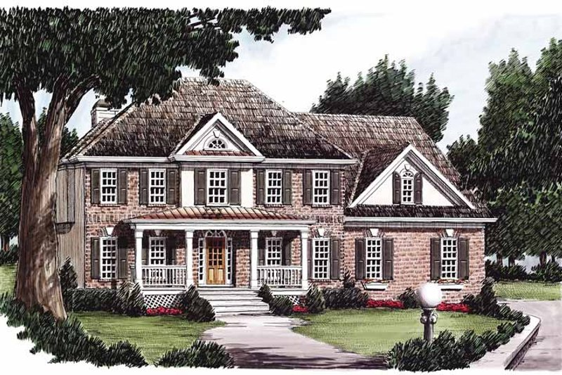 Classical Exterior - Front Elevation Plan #927-73