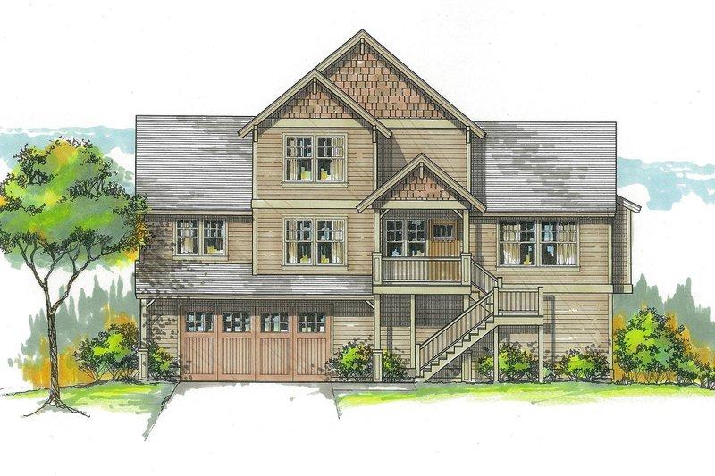 Craftsman Exterior - Front Elevation Plan #53-582