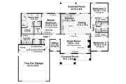 Craftsman Style House Plan - 3 Beds 2.5 Baths 2001 Sq/Ft Plan #21-432 Floor Plan - Main Floor Plan