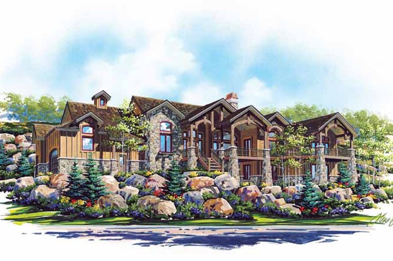 Craftsman Exterior - Front Elevation Plan #945-66