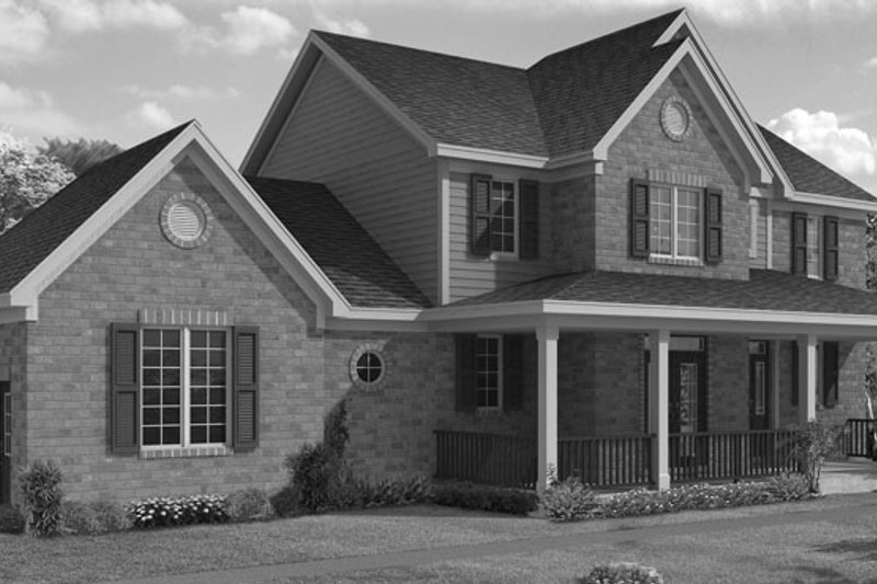 Traditional Exterior - Front Elevation Plan #46-800