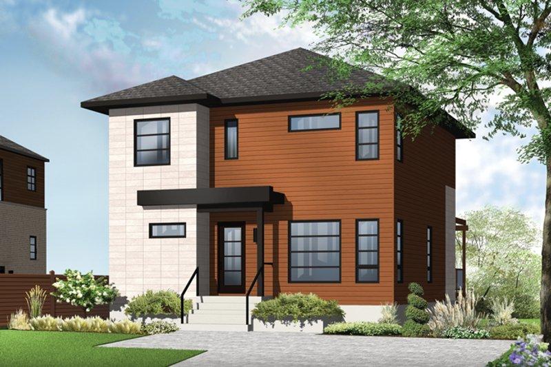 House Plan Design - Contemporary Exterior - Front Elevation Plan #23-2583