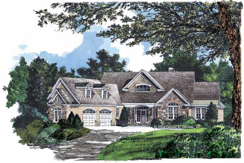 Craftsman Exterior - Front Elevation Plan #929-742