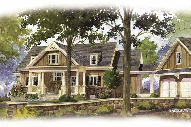 Craftsman Exterior - Front Elevation Plan #429-272