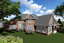 Dream House Plan - Traditional Exterior - Rear Elevation Plan #70-1296