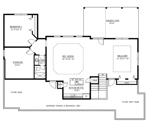 Craftsman Floor Plan - Other Floor Plan Plan #437-69