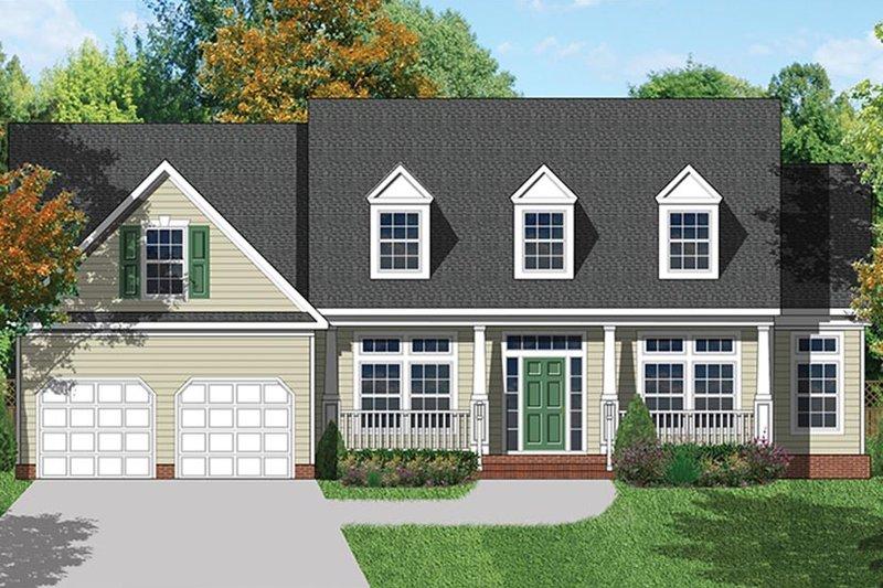 Colonial Exterior - Front Elevation Plan #1053-68 - Houseplans.com