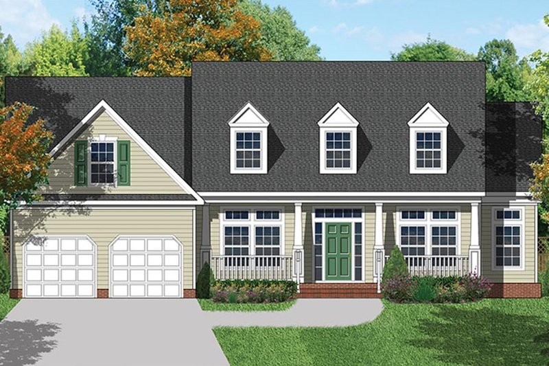 Colonial Exterior - Front Elevation Plan #1053-68