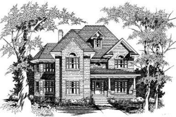 European Exterior - Front Elevation Plan #329-106