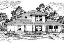 House Design - Mediterranean Exterior - Front Elevation Plan #124-299
