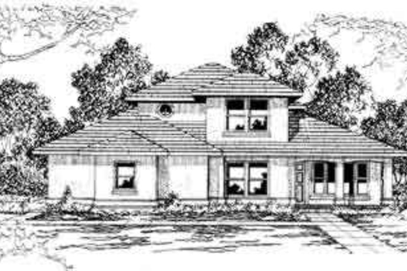 Mediterranean Exterior - Front Elevation Plan #124-299