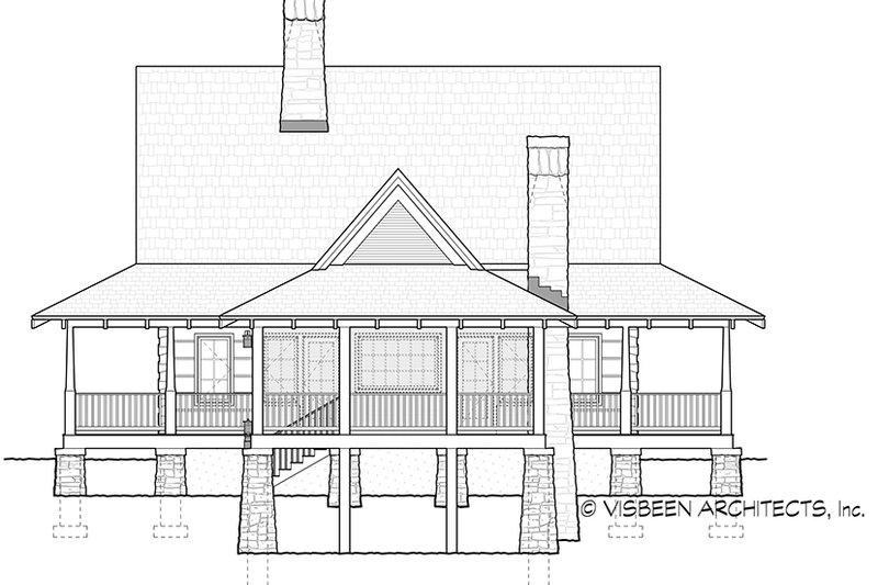 Log Exterior - Rear Elevation Plan #928-281 - Houseplans.com