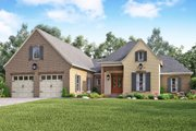 European Style House Plan - 4 Beds 2.5 Baths 2459 Sq/Ft Plan #430-139 Exterior - Front Elevation