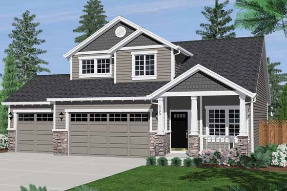 Craftsman Exterior - Front Elevation Plan #943-16