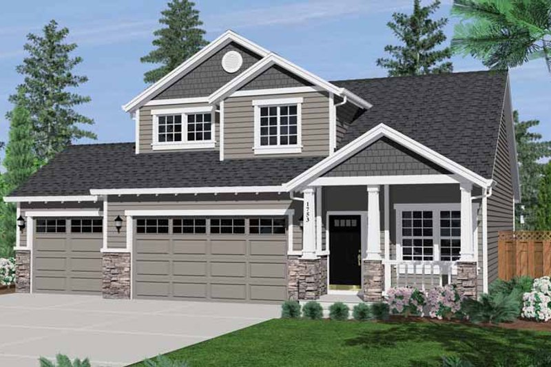 Craftsman Exterior - Front Elevation Plan #943-16 - Houseplans.com
