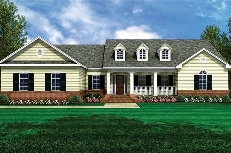 Country Exterior - Front Elevation Plan #21-411