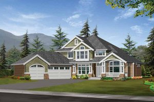 Craftsman Exterior - Front Elevation Plan #132-327