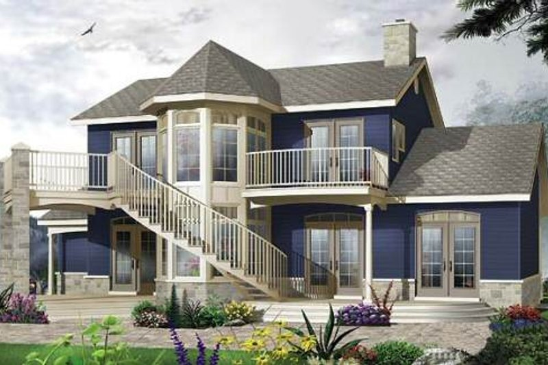Victorian Style House Plan - 3 Beds 2.5 Baths 1953 Sq/Ft Plan #23-725