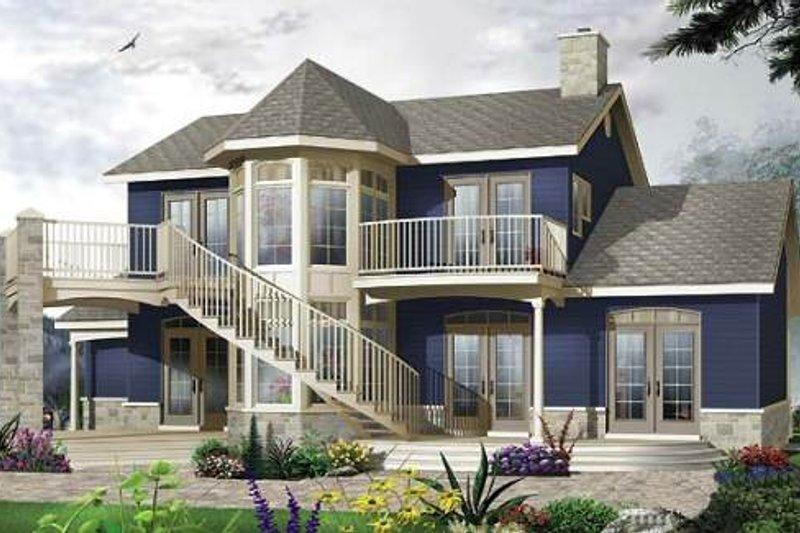 Dream House Plan - Victorian Exterior - Front Elevation Plan #23-725
