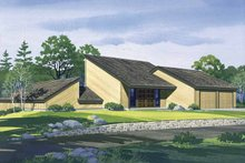 Dream House Plan - Contemporary Exterior - Front Elevation Plan #320-820