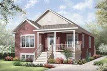 Architectural House Design - Country Exterior - Front Elevation Plan #23-2377