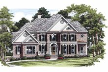 Home Plan - Colonial Exterior - Front Elevation Plan #927-456